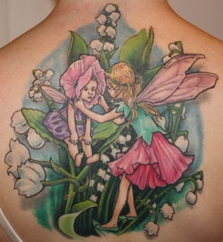 Full Color Musical Rainbow Tattoo by Eldric